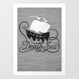 DEATH AT SEA Art Print