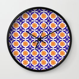 Double Flower Wall Clock
