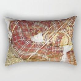 Plaid Hands and Converse Feet Rectangular Pillow