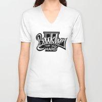 brooklyn V-neck T-shirts featuring BROOKLYN by DaeSyne Artworks