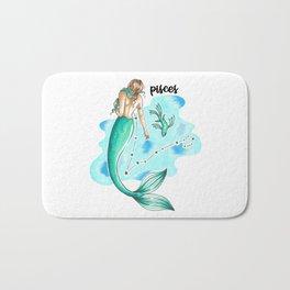 Pisces Mermaid Bath Mat
