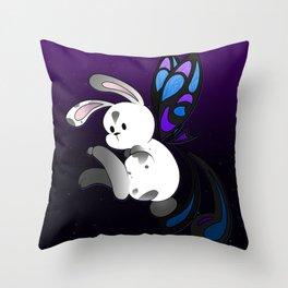 Fairy Bun Bun Throw Pillow