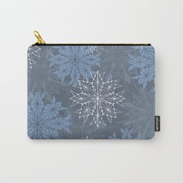 Frosty Snowflakes Carry-All Pouch