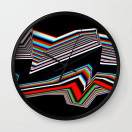 Distorted Lines Wall Clock