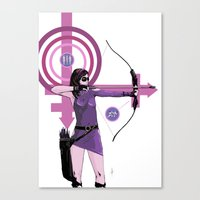 kate bishop Canvas Prints featuring Kate by Jon Bass