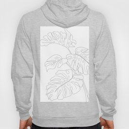 Line Art Monstera Leaves Hoody