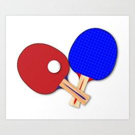 Pair Of Table Tennis Bats Art Print