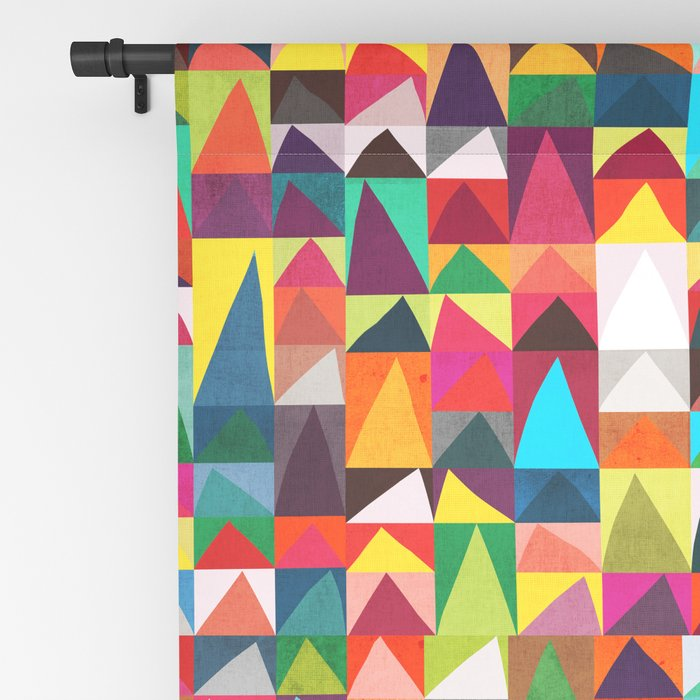 Abstract Geometric Mountains Blackout Curtain
