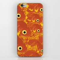 goldfish iPhone & iPod Skins featuring Goldfish by Monty