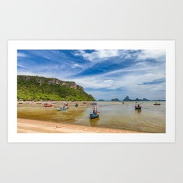 Fishing Boats Thailand Art Print