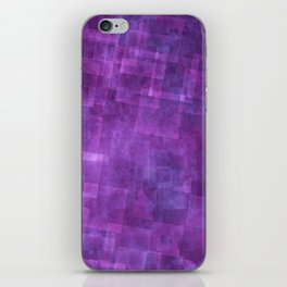 Abstract Purple Squares Digital Painting iPhone Skin