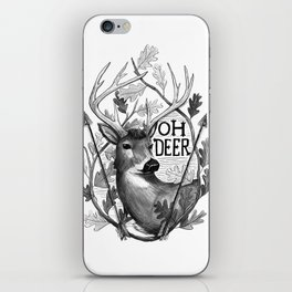Oh Deer B&W iPhone Skin