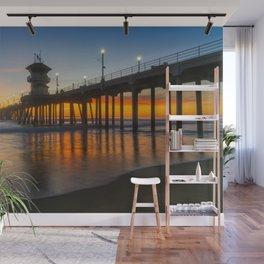 Long Exposure Huntington Sunset Wall Mural