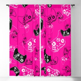 Video Game Pink Blackout Curtain