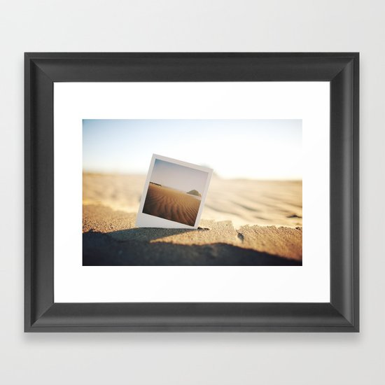 Morro Bay Polaroid Framed Art Print