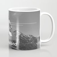 new zealand Mugs featuring New Zealand by ztwede