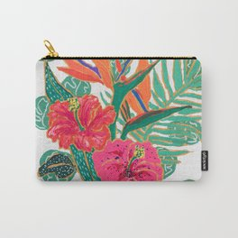 Tropical Hibiscus Bouquet Carry-All Pouch