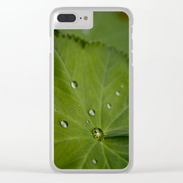 Water on Leaf Clear iPhone Case