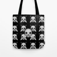 skeletor Tote Bags featuring Skeletor by Mountain View Art