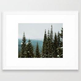 Mt. Shasta, November Framed Art Print