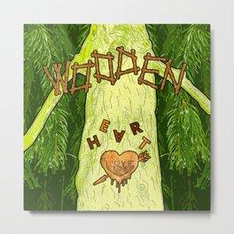 Heart of wood in pine tree Metal Print