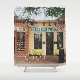 The Original Key Lime Pie Bakery Shower Curtain