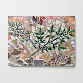 Plant mosaic Metal Print