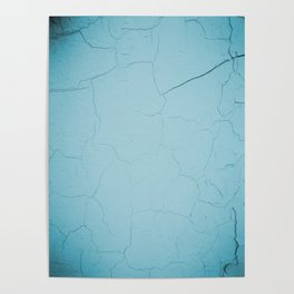 photo with damaged wall texture in soft blue tone ready for art, fashion, furniture, iphone cases Poster