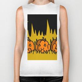Halloween Pumpkins Speak No Evil, Hear No Evil, See No Evil | Veronica Nagorny Biker Tank