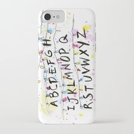 Alphabet Wall Christmas Lights Pattern iPhone Case