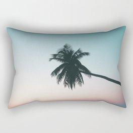 Palm Cyan Rectangular Pillow