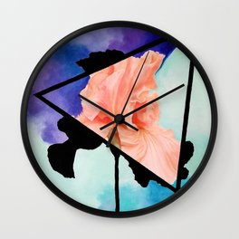Ironic Iris Wall Clock