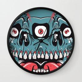 Triple Eyed Dumps Skull Wall Clock