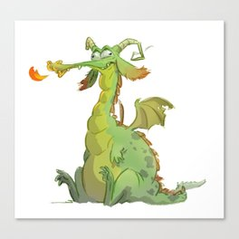 Silly dragon Canvas Print
