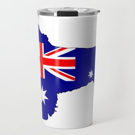 Australian Flag - Newfoundland Dog Travel Mug