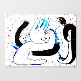 Scarfin' (White) Canvas Print