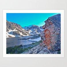 Froze To Death Lake Art Print