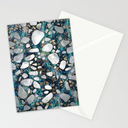 Terrazzo - Mosaic Abalone Pearl and Gold #7 Stationery Cards