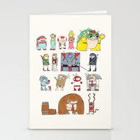 nintendo Stationery Cards featuring Nintendo Characters by Hamburger Hands