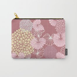 Floral Seamless Pattern on a Rusty Pink Background Carry-All Pouch