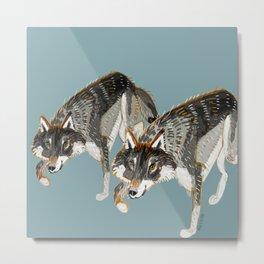 Totem Dark European Wolf Metal Print