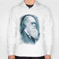 darwin Hoodies featuring Charles Darwin by Zandonai