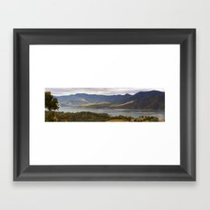 Mountain Bay Panorama Framed Art Print