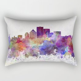 Rochester NY skyline in watercolor background Rectangular Pillow