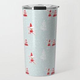 Santa Elf Blue Red  #Christmas #holiday Travel Mug