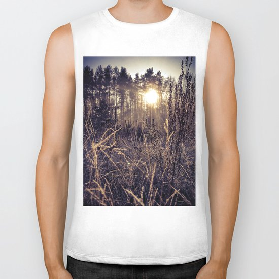 Golden hour  Biker Tank