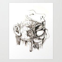Anatomy: Study 1 Salivating Zombie Art Print