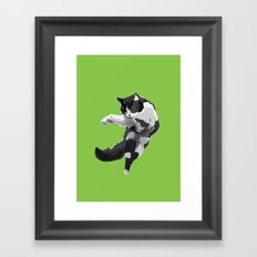 Dancing Cat Framed Art Print