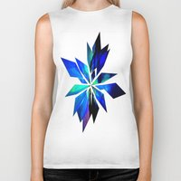 crystals Biker Tanks featuring Crystals by Renaissance Youth