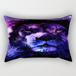 Lion leo purple Rectangular Pillow